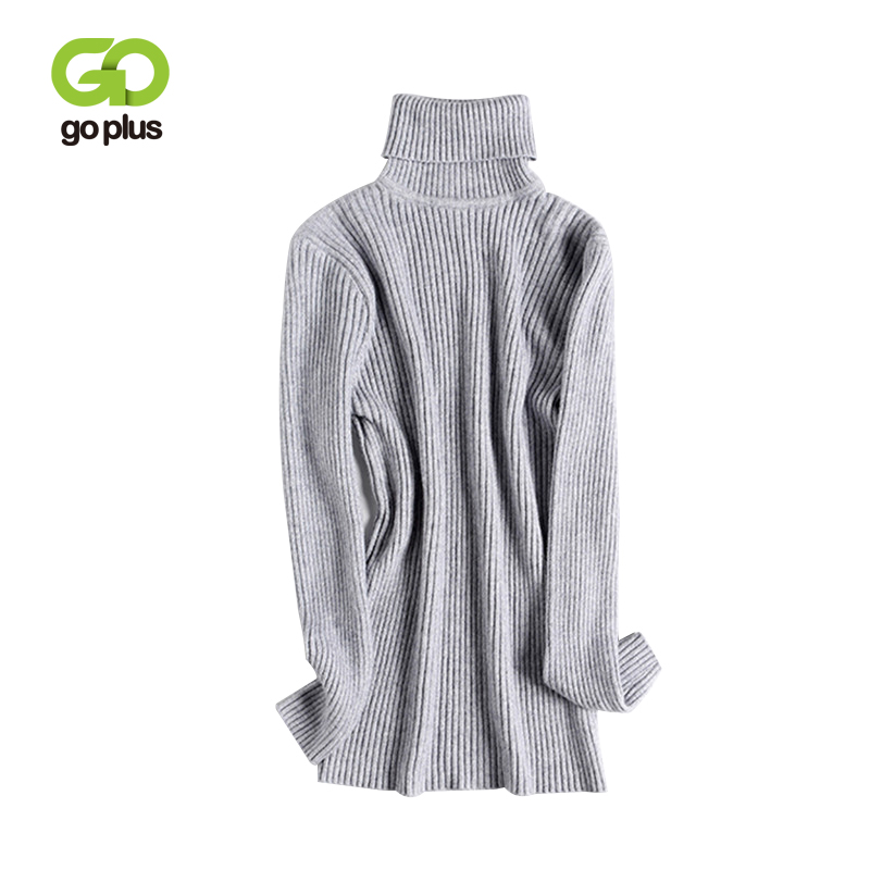 GOPLUS Knitted Sweaters Womens Casual Autumn Winter Turtleneck Long Sleeve Warm Swaeters Pullovers Womens Basic Tops C8093