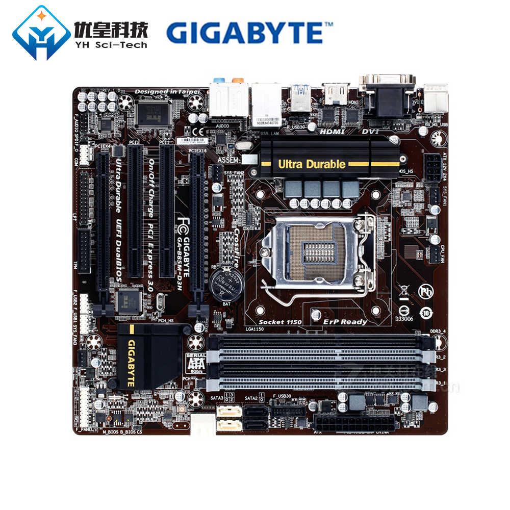 اللوحة الام الأصلية المستعملة جيجا بايت GA-B85M-D3H B85 LGA 1150 Core i7/i5/i3/Pentium/Celeron DDR3 32G Micro ATX