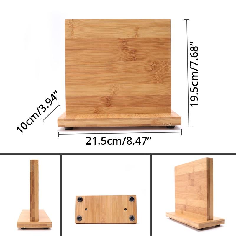 Bamboo Magnetic Knife Block Sizes