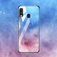 silicone case Tempered Glass Case For samsung galaxy A20 A30 A40 A50 Cases Space Silicone Covers for samsung A5 A6 A7 A8 plus 2018 back cover (5)