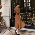 CINESSD Seexy blazer Kleider Für Frauen hochzeit gast kleider Lange laterne Hülse Kerb Formale Plus Größe Vestidos
