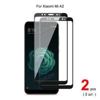 Para Xiaomi Mi A2 ( Mi 6X) la cobertura completa de vidrio templado Protector de pantalla del teléfono película protectora 2.5D dureza 9H
