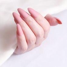 24 шт матовые открытые искусственные ногти синие короткие шпильки
