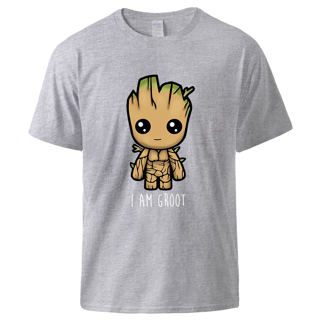 I Am Groot Cartoon T Shirts 2020 Summer High Quality Cotton Tshirts Short Sleeve Top Male Fashion Loose Fit Sportswear Tee Homme