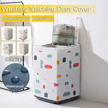 Washer Washing-Machine-Cover 62cm Dryer Roller Sunscreen Silver Polyester Dustproof