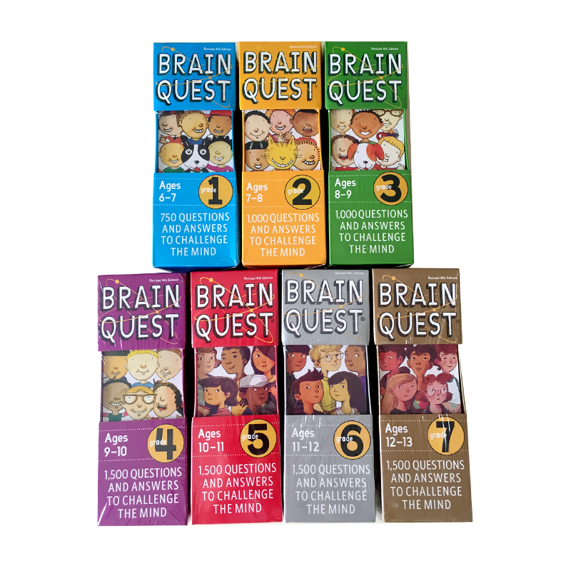 Brain Quest Version Of The Intellectual Development English Word Cards Books Questions And Answers Card Smart Start Child Kids
