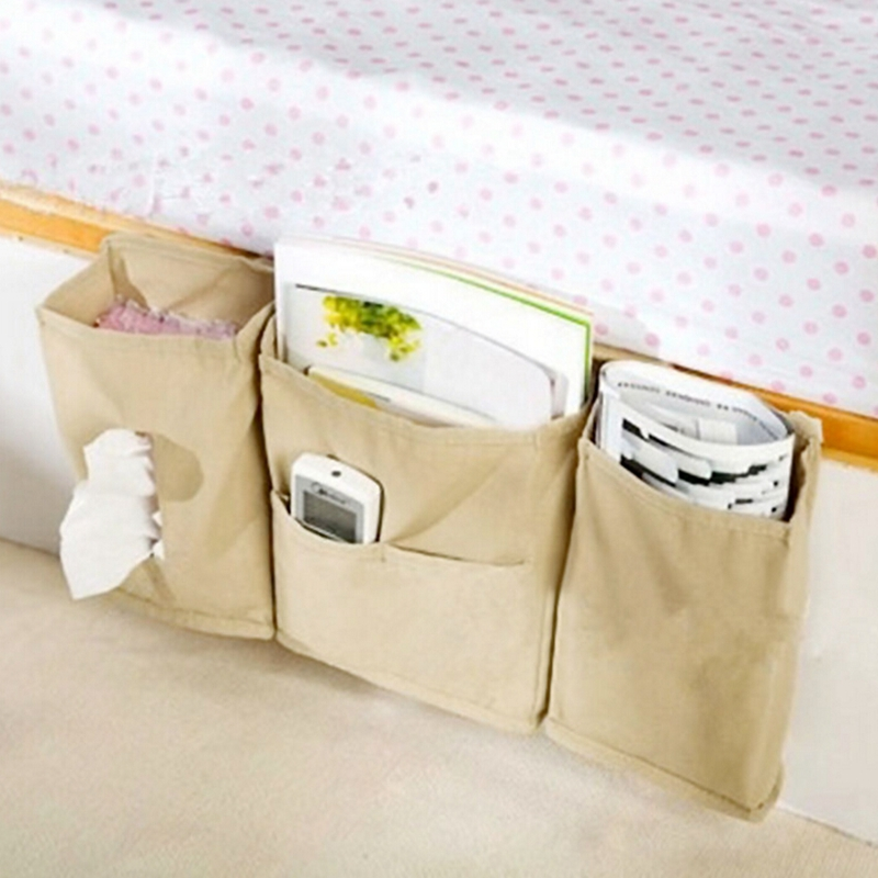 Bedside Bed <font><b>Pocket</b></font> <font><b>Sofa</b></font> Side Storage Organizer Hanging Bag <font><b>Remote</b></font> Control Phone Magazine Storage Rangement Gift Bag Pastry Bag image