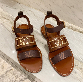 VVL 2020 New French High Women's Sandals Classic All-in-one Upper Soft Cowhide Inner Lining Insole Sheepskin Luxury Counter