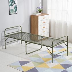 Reinforced folding bed single bed office, lunch break, wire bed, home line, bed, spring bed, portable