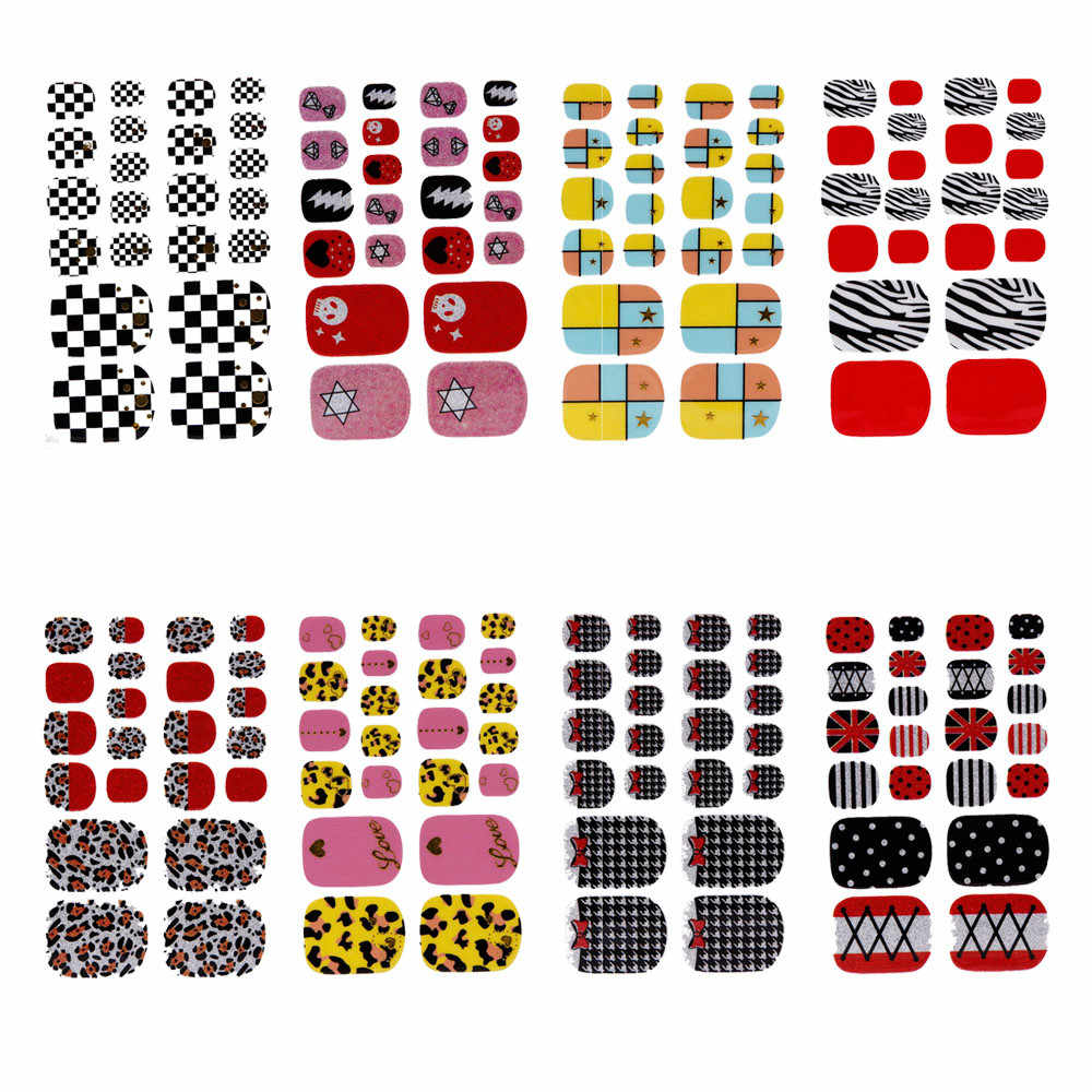 1PCS Nail Art Water Transfer Wraps Stickers Polish Foils Decals DIY Tips Decoration Stickers for Nails Designs Nail Decorations