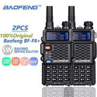 "vhf uhf dual 2pcs Baofeng BF-F8 + מכשיר הקשר Dual Band VHF & UHF SMA-F שני הדרך רדיו BF F8 + F8 Comunicador Ham CB רדיו טווח Hf מקמ""ש (1)"