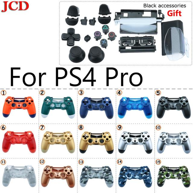 JCD جديد ل PS4 المراقب برو الإسكان شل غطاء حالة إصلاح طقم عصري لسوني بلاي ستيشن 4 برو استبدال ل JDM 040