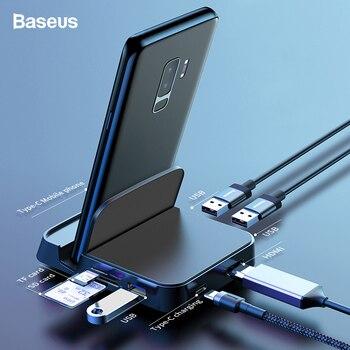 Baseus концентратор USB Type C док-станция для Samsung S10 S9 Dex Pad станция USB-C к HDMI док-станция адаптер питания для Huawei P30 P20 Pro