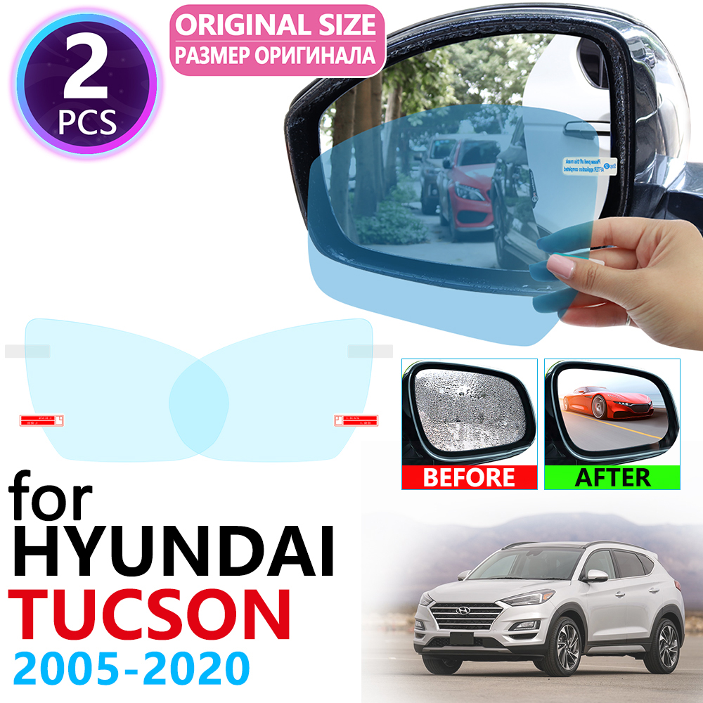 For Hyundai Tucson 2005~2019 Ix35 JM LM TL Full Cover Rearview Mirror Anti Fog Film Accessories 2008 2010 2012 2014 2016 2018