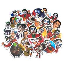 R1331 Ransitute 20pcs/set Clown Movie Character Scrapbooking Stickers Decal For Guitar Laptop Luggage Fridge Graffiti Sticker