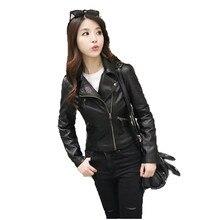 Faux leather coat women black pink XS-3XL plus size PU jacket autumn winter lapel long sleeve fashion faux LR424