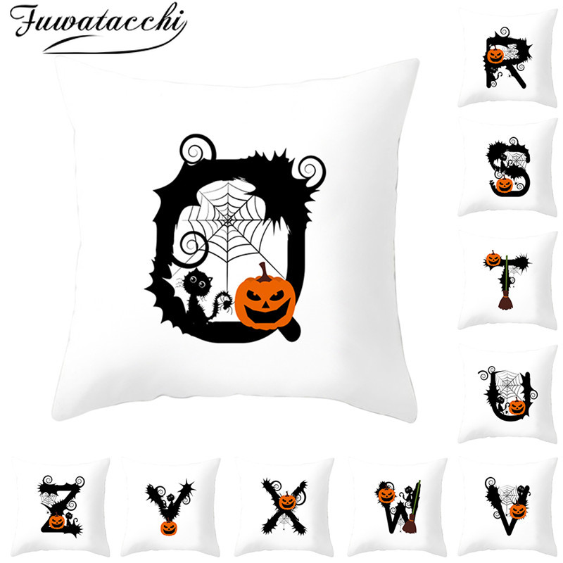 Fuwatacchi Alphabet Print Cushion Cover Throw Pillow Covers Sofa Pillowcase Pillows Decorative for Home
