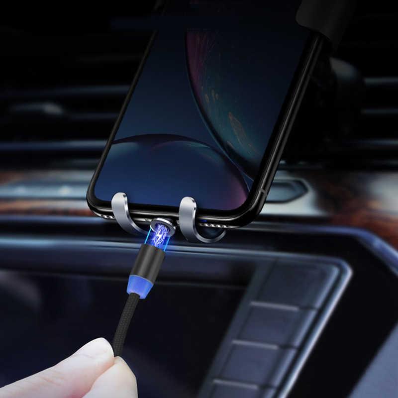 Manyetik mikro USB kablosu iPhone Samsung Android için hızlı şarj mıknatıs şarj cihazı USB C tipi kablo cep telefonu kablosu tel