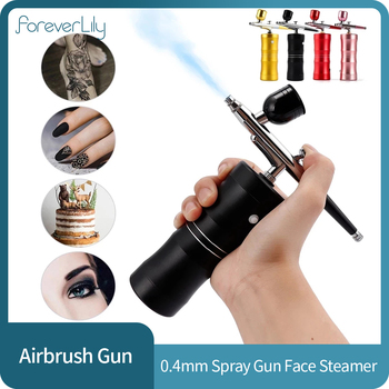0.4mm Airbrush Makeup Cake for Compressor Kit Air-brush Spray Gun for Art Painting Manicure Craft Spray Model Face Steamer 1