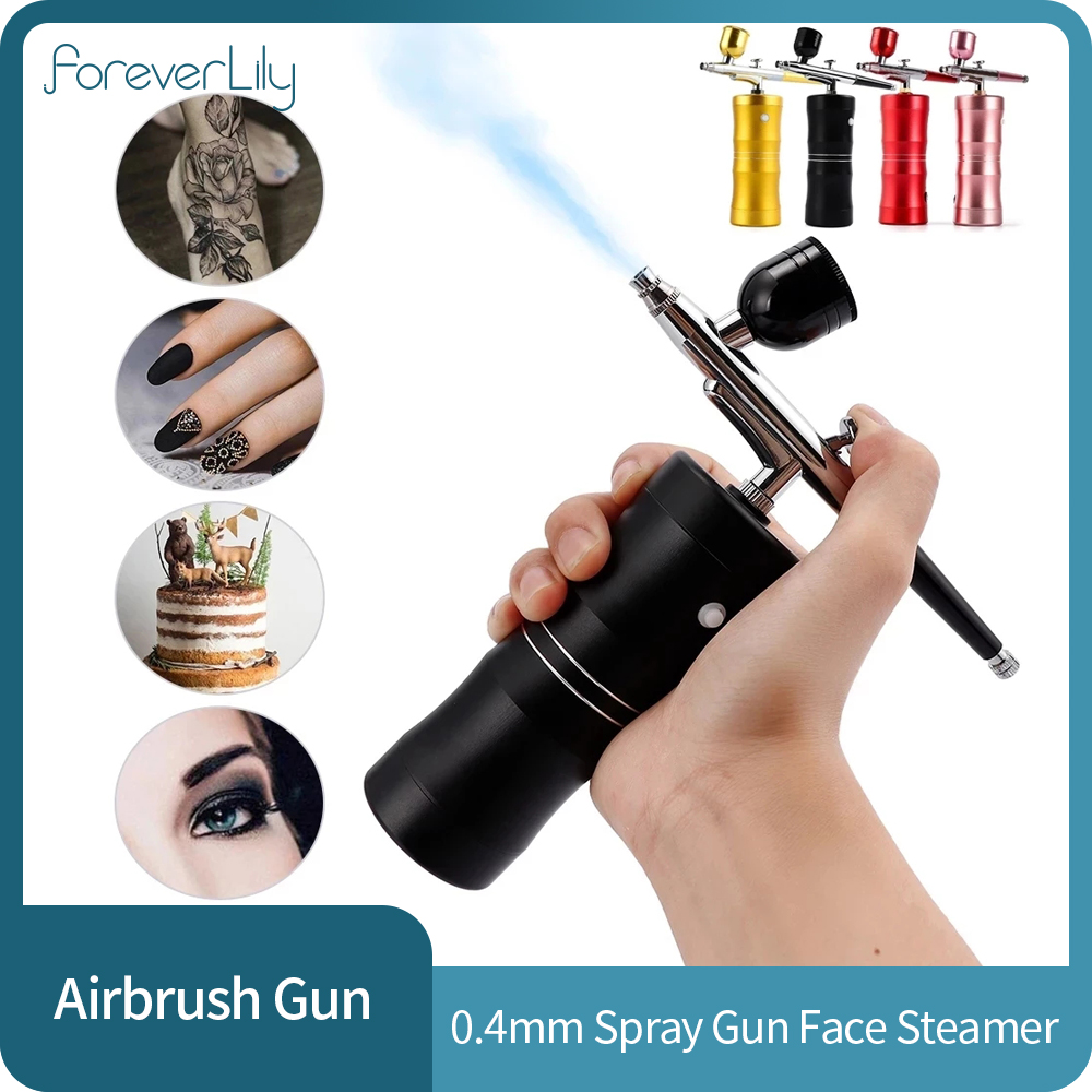0.4mm Airbrush Makeup Cake for Compressor Kit Single Action Air brush Spray Gun for Art Painting Manicure Craft Spray Model|Home Use Beauty Devices| - AliExpress