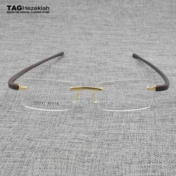 TAG marka plac Rimless okulary optyczne ramki mężczyźni 2020 krótkowzroczność okulary korekcyjne ramki okularów dla mężczyzn oprawki do okularów TH3741 tanie i dobre opinie TAGHezekiah Stop CN (pochodzenie) GEOMETRIC FRAMES Okulary akcesoria