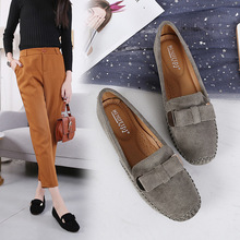 Shoes Woman 2020 Cow Split Leather Slip On Solid Flats Loafers Summer Female Moccasin Casual Flats Women Shoes Fishermen Flats