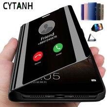 Smart Spiegel Case Voor Huawei Nova 5 T Case Stand Flip View Boek Telefoon Cover Hauwei Hawei Nova5T Nova 5 T T5 Nova5 T 6.26