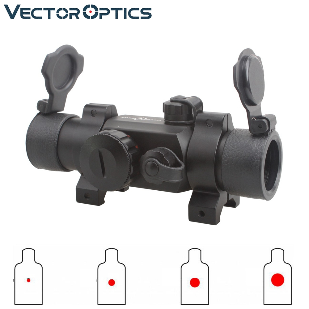Vector Optics Harpoon 1x30 Hunting Green And Red Dot Scope Shotgun Rifle Optical Sight With 30mm Weaver Mount
