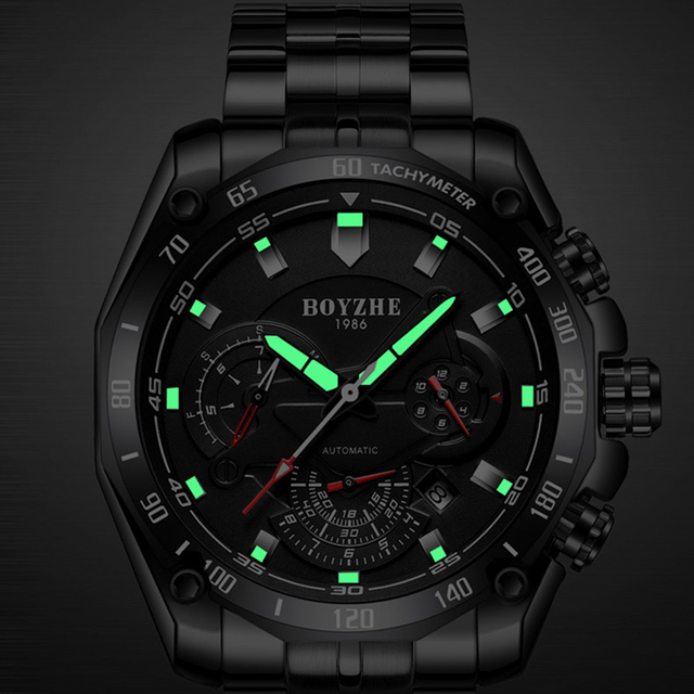 Men's mechanical Casual Stainless steel watch 4
