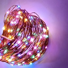10M LED String Light Waterproof Copper Wire Lighting Christmas Party Wedding Indoor Decoration Lamp Red Green Blue Yellow