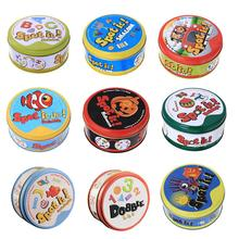 Карточная игра «Доббль», игрушка «Спот It», железная коробка для спорта, отдыха на природе, бедер, детские настольные игры, подарок с животным...