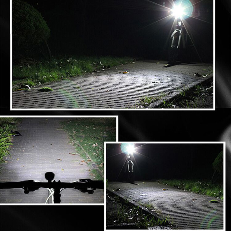 Cycling Headlignt LED Flashlight For Bike Front Lights Night Riding MTB Road Bike Lamp USB Floodlight Bicycle Tools in Bicycle Light from Sports Entertainment