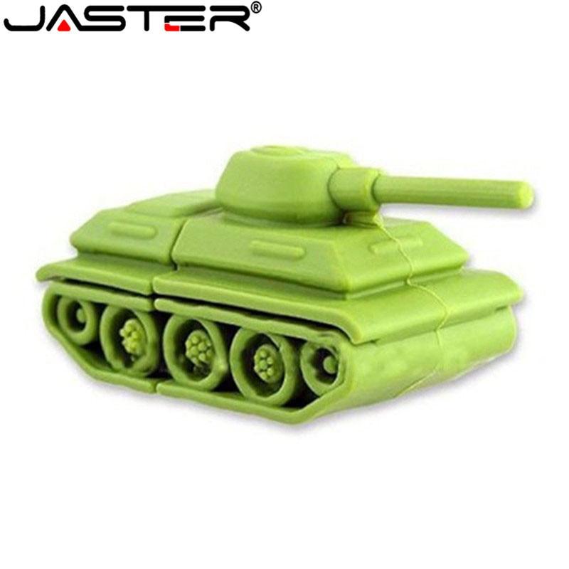JASTER Cartoon Tanks Models Usb Flash Drive Battle City Gift  Cartoon/ 4GB/8GB/16GB/64GB/32GB Wholesale Tank Pen Drive Mini Gift