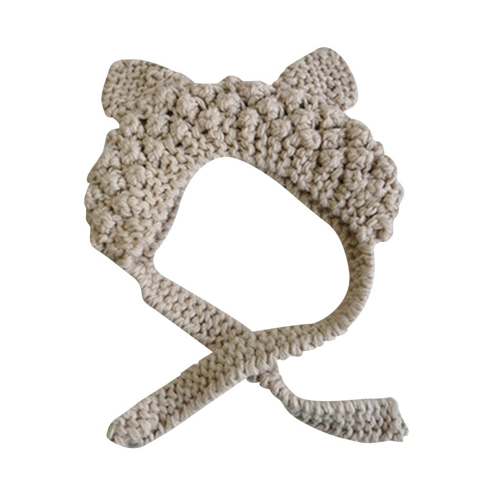 2020 New Adult Women Cats Ears Knitted Lace Up Hat Earmuffs Earflaps Winter Warmer Cover