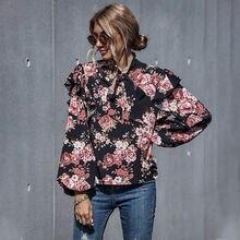 Женская блузка 2020 свободная весенне осенняя женская рубашка