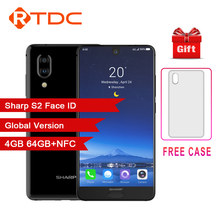 Sharp Aquos C10 S2 Android 8.0 4 Gb + 64 Gb 5.5 ''Fhd + Smartphone Snapdragon 630 Octa Core viso Id Nfc 12MP 2700 Mah 4G Del Telefono Mobile(China)