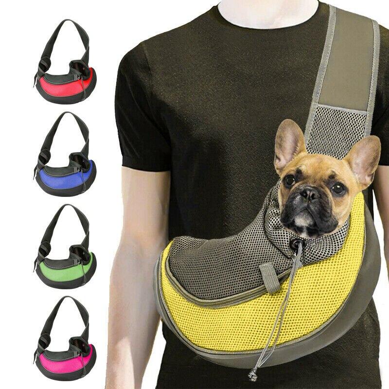 Pet filhote de cachorro cão portador mochila viagem tote bolsa de ombro malha sling carry pacote conforto viagem tote ombro mochila estilingue