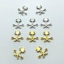 20 قطعة المملكة العربية السعودية الوطنية شعار حلقة مزدوجة اتصال مسلم لصنع المجوهرات والاكسسوارات