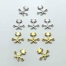 20pcs Saudi Arabia national emblem double ring connection Muslim for jewelry making accessories