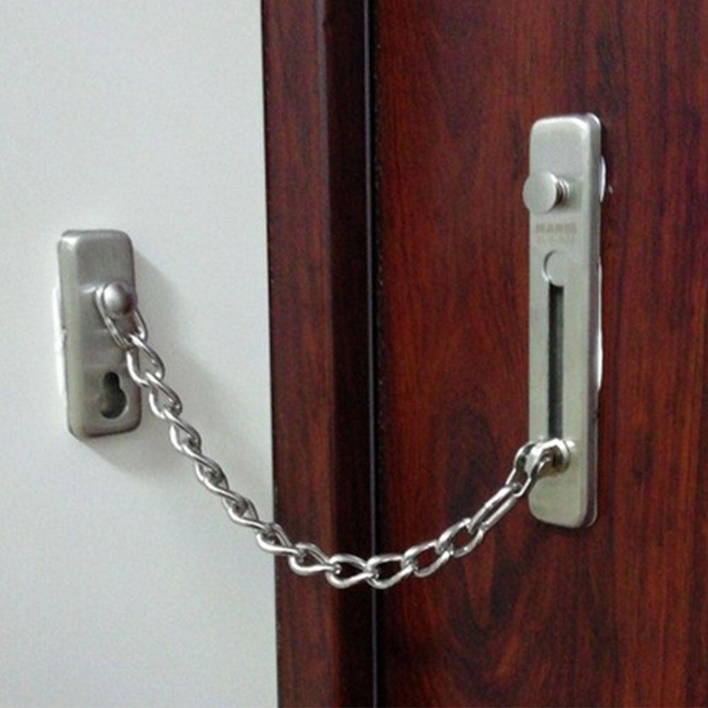 Anti-theft Stainless Steel Home Door Chain Latch Safety Guard Security Lock Security Limiter Tools Hardware For Home Door