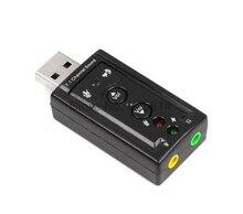 Dhl 또는 ems에 의해 200 pcs usb 3d 오디오 usb 사운드 카드 어댑터 7.1 채널 전문 헤드셋 마이크 3.5mm 잭