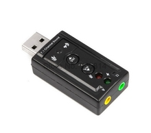 by dhl or ems 200 pcs USB to 3D Audio USB Sound Card Adapter 7.1 Channel Professional Headset Microphone 3.5mm Jack