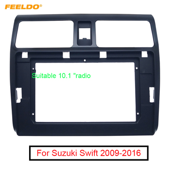 FEELDO Car 2Din Audio Radio Fascia Frame Adapter For Suzuki Swift 09-16 Big Screen 10.1 Dash Stereo Fitting Panel Frame Kit image