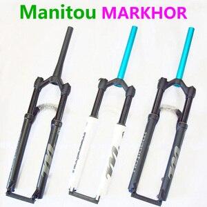 Bicycle Fork Manitou MARKHOR 26 27.5 29er Mountain MTB Bike Fork air Front Fork different to MRD Marvel Pro comp SR SUNTOUR 2018