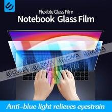 Película protetora anti-azul de udma para laptops 1314 15.6 17 polegadas vidro flexível film16: 9 protetor de tela lenovo asus hp xiaomi dell