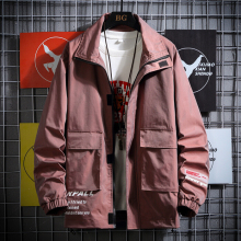 2020 Hot Men Oversize Solid Color Classic Bomber Jackets Customized clothes 04