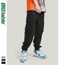 BIG LABLE 2019 Otoño Invierno Streetwear Jogger Pantalones Windbreaker