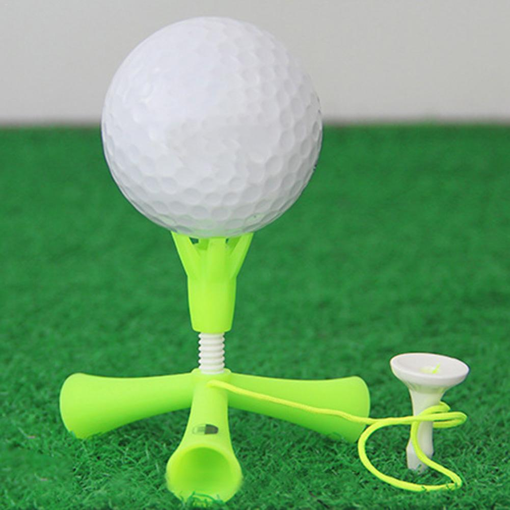 Self Standing Practice Training Golf Tee Ball Holder Anti-flying Rotatable Tripod Accessories Adjustable Height Easy Outdoor
