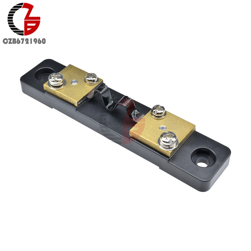 Внешний шунт 10 А 20 А 30 А 50 А 100 А 200 А 300 а 75 мВ измеритель тока шунтирующий резистор спилер для цифрового вольтметра амперметра постоянного ток...