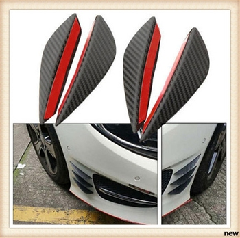 4Pcs Fiber Car Spoiler Canards Front Bumper fin for Mercedes Benz W203 W210 W211 W204 A C E S CLS CLK CLA GLK ML SLK Smart image
